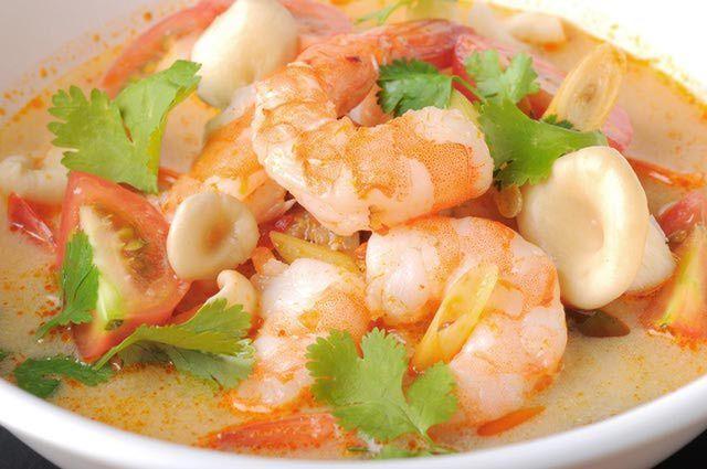Enjoy a Big Bowl of Richly Flavored Thai Tom Yum Kung Soup