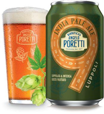Birra Poretti IPA 9 Luppoli - Packaging Design by Robilant Associati #Can