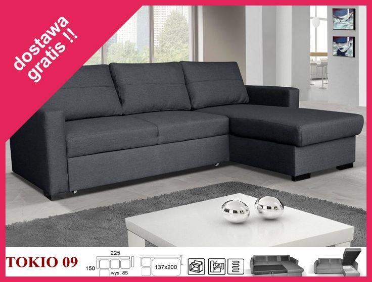 Narożnik kanapa sofa rozkładany TOKIO rogówka HIT