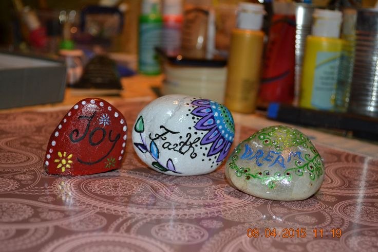 painted  stones when you have faith,joy and dream,everthing can happen.:)