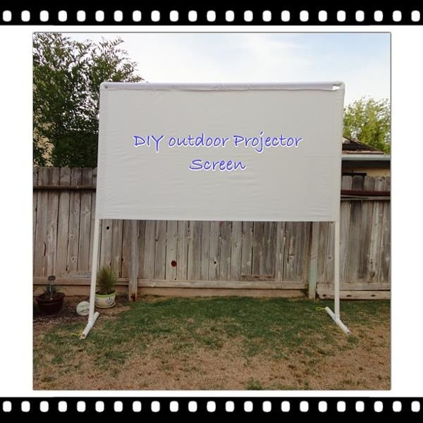 clunky crafts outdoor projector screen tutorial