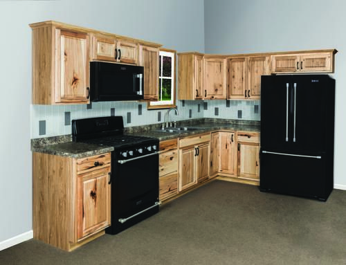 Menard S Value Choice 19 L Thunderbay Hickory Kitchen Cabinets 1586 Remodeling Ideas Pinterest And