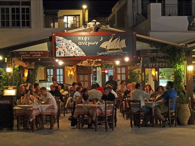 Taverna at Lemnos , Greece