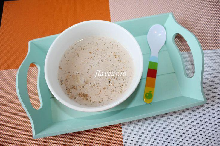 Bulgur cu lapte, carob si vanilie