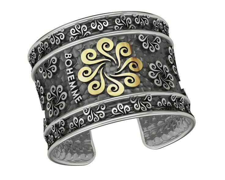 925 Sterling Silver Bracelet 18k. Gold #bohemme #jewelry #bracelet #fashion
