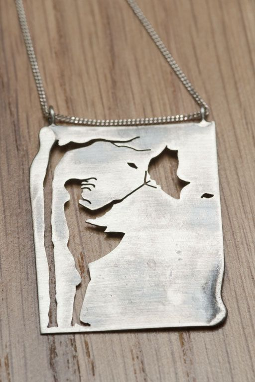 Girl in the wind, silver necklace