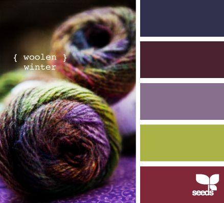 woolen winter---Moms home: Colors Combos, Idea, Design Seeds, Winter Colors, Colors Palettes, Woolen Winter, Colors Schemes, Jewels Tones, Colour Schemes