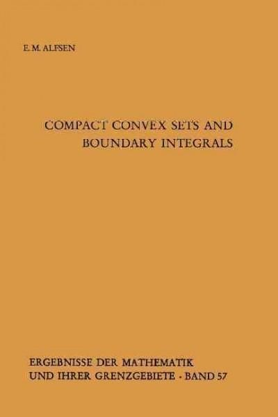 Compact Convex Sets and Boundary Integrals