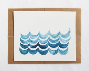 Image of Painted Waves Print