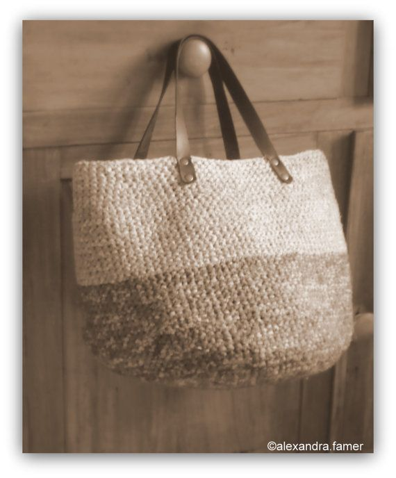 Handmade tote bag, Casual giant purse, fancy fabric shades ,grey, blue jeans, antique pink. on Etsy, $151.18