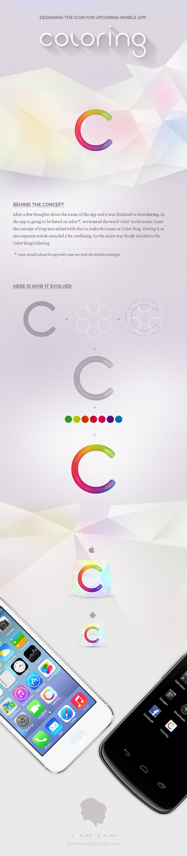 """""""Coloring - iPhone & Android App Icon"""", a project on @Behance ::  http://www.behance.net/gallery/Coloring-iPhone-Android-App-Icon/10422455"""