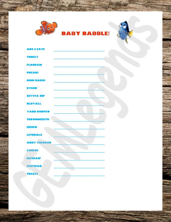 best finding nemo games ideas dory games what finding nemo theme games baby shower games baby by gemlegends