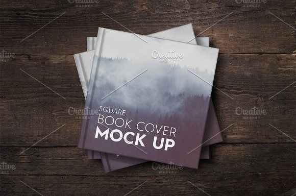 NEW - Square Book Cover Mockup by attraax on @creativemarket
