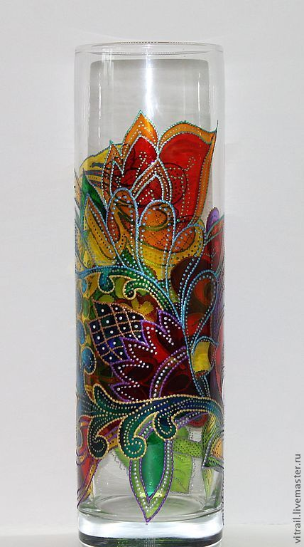 Elegant Painted Glass Vases From The Thrift Store