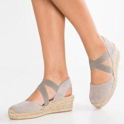 Wedge Sandals Elastic Band Slip On Sandals