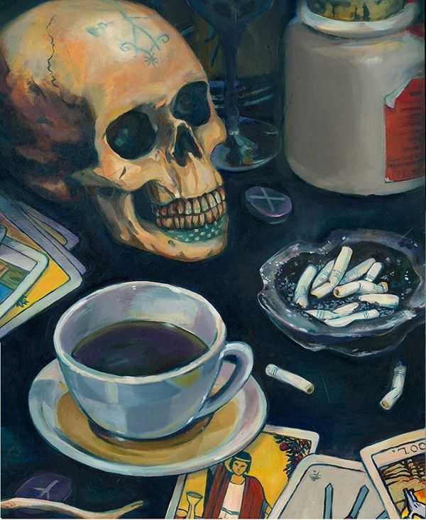 All this so miserable, yet they all still praise it. Modern Vanitas - oil - by rebekie.b
