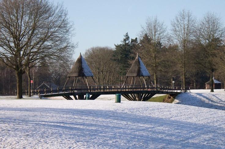 Het eerste winterse plaatje van 2012, het bruggetje op Het Hulsbeek Boeskoolstad-Oldenzaal