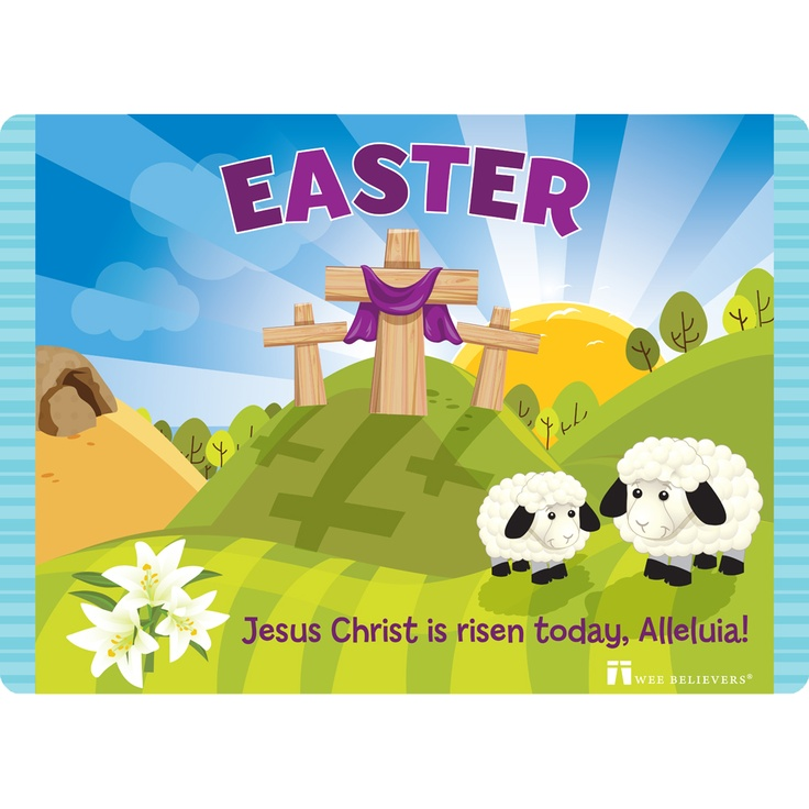 12 best easter gifts images on pinterest easter gift catholic easter faith mat is a wipeable 18x13 placemat get it here http negle Choice Image
