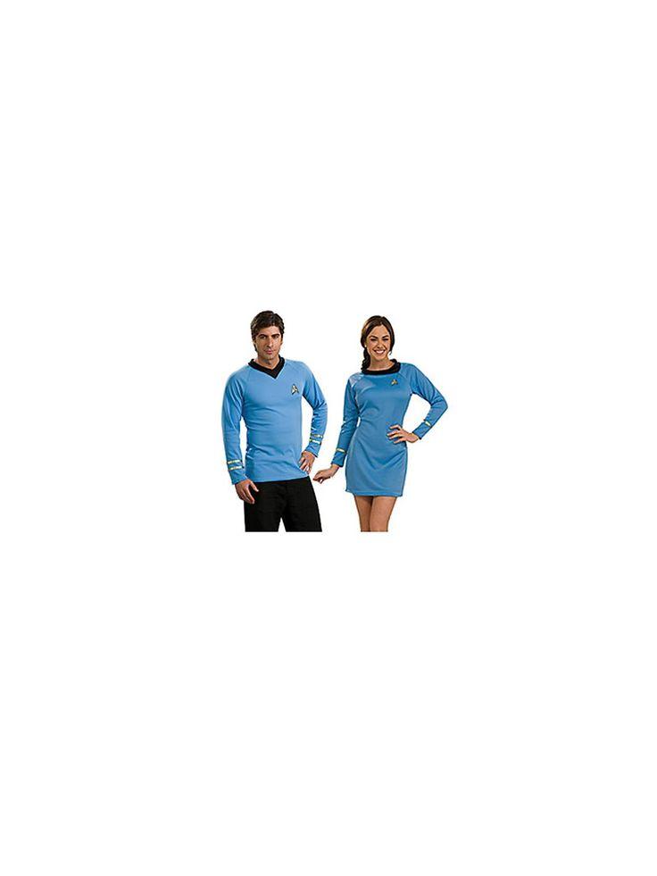 Star Trek Classic Adult Blue Dress Couples Costume | Wholesale Couples Halloween Costume for Women