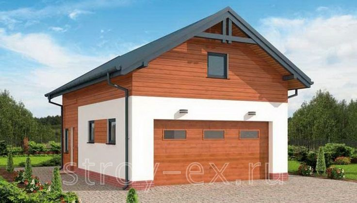 """Проект гаража с мансардой """"PDG298"""" площадью 100.35 кв.м. - «Строй Экспресс»"""