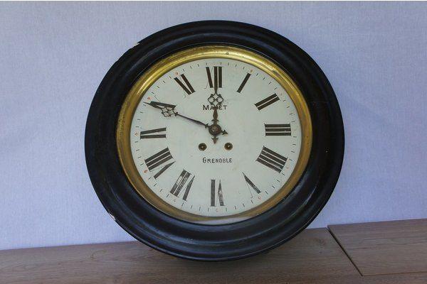 Grenoble Wall Mounted Pendulum Clock | Vinterior London  #vintage #interiors #design #decor