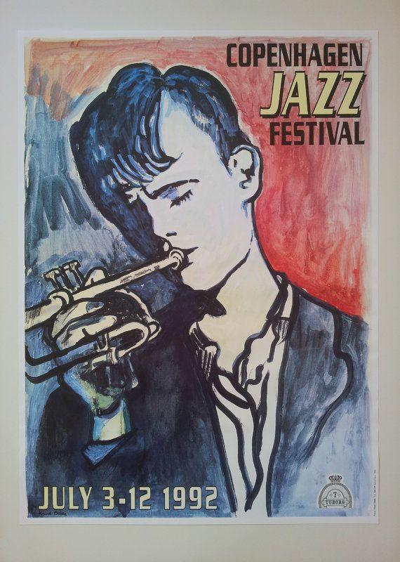 1992 Copenhagen Jazz Festival  Original Vintage by OutofCopenhagen