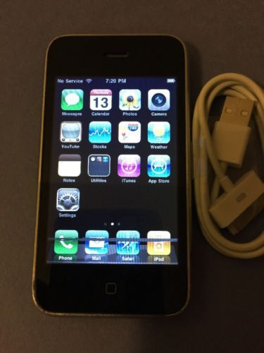 Apple iPhone 3G 8GB Black AT&T Smartphone #500 | eBay