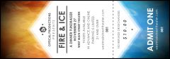 Fire and Ice Event Ticket from TicketPrinting.com