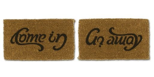 Doormat W, Brilliant Products, Smart Stuff, Housewarming Gift, Doormats W, Fun Stuff, Funny, Awesome Ideas, Random Stuff