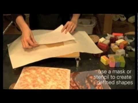 ▶ Encaustic Monoprinting on the 16 x 16 RF Heated Palette - YouTube