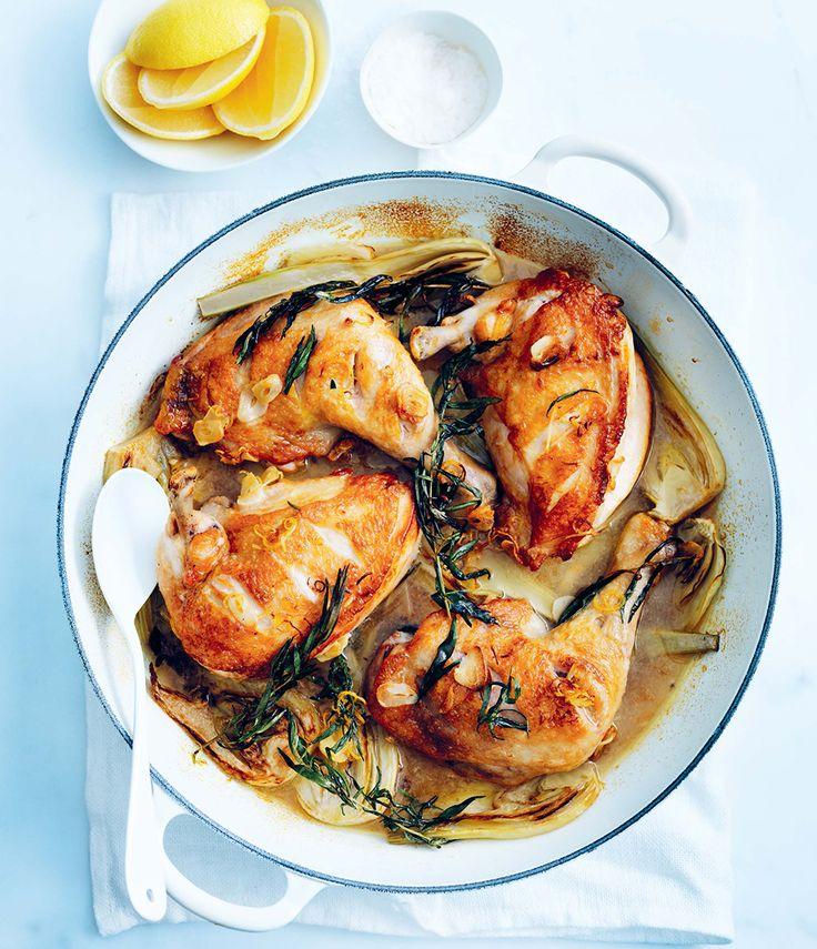 Poulet rôti à l'estragon et au citron, de Donna Hay