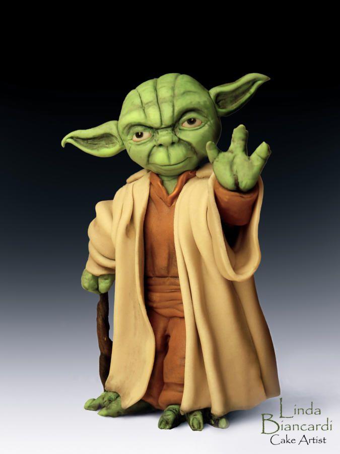 Maestro Yoda realizzato in pasta da modelling e anima in impasto di cereali