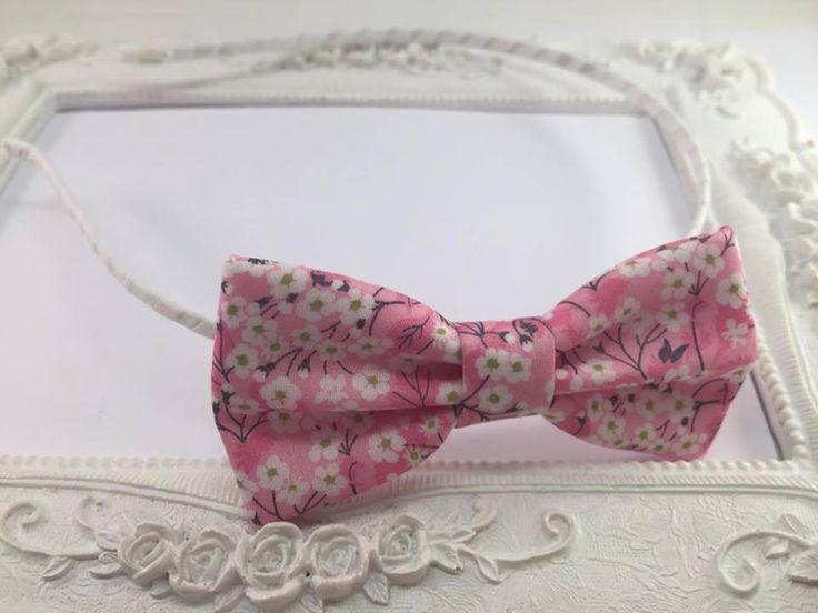 Serre-tete Tissu Liberty Mitsi Valeria Orchidée rose : Accessoires coiffure par fleurs-de-provence