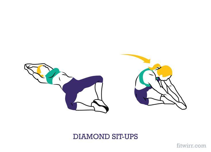 Diamond sit-ups
