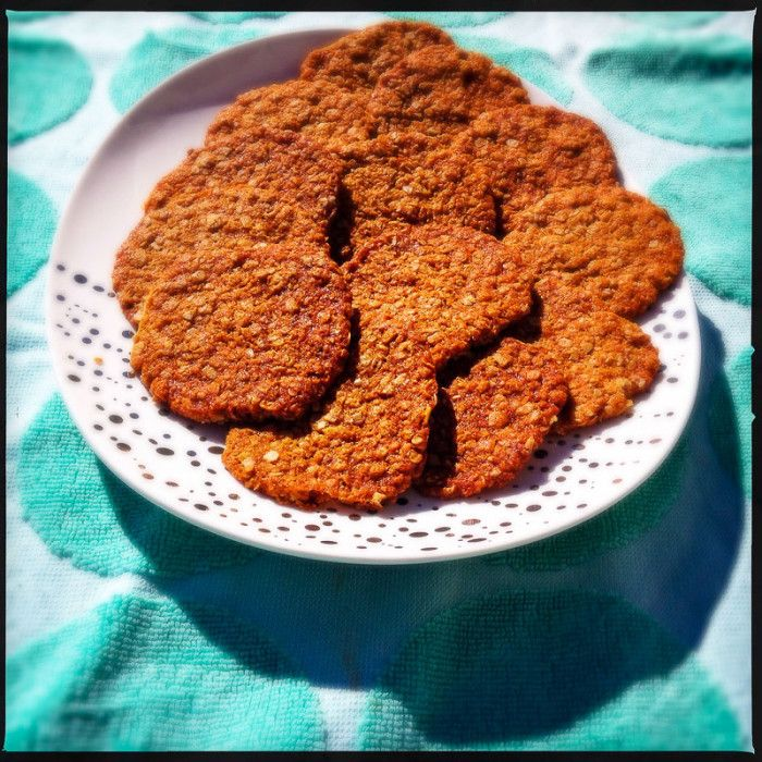 Oaty Anzac Biscuits - Donna Hay. Tasty, simple, and only uses pantry ingredients.