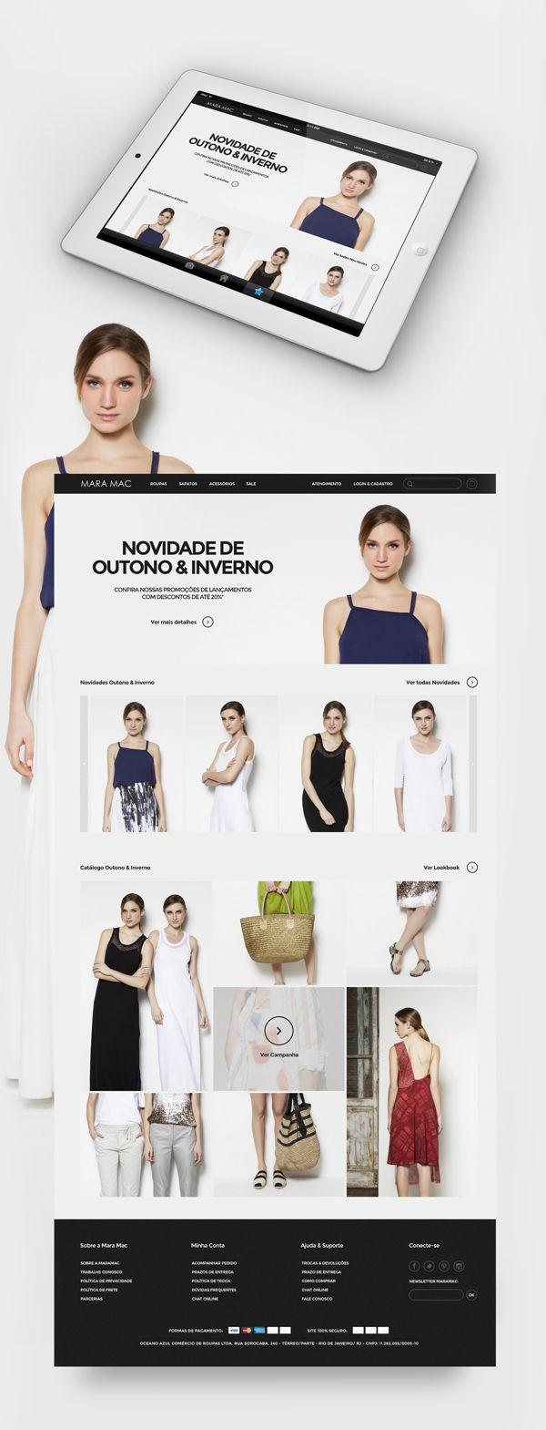 Clothing e-commerce on Behance