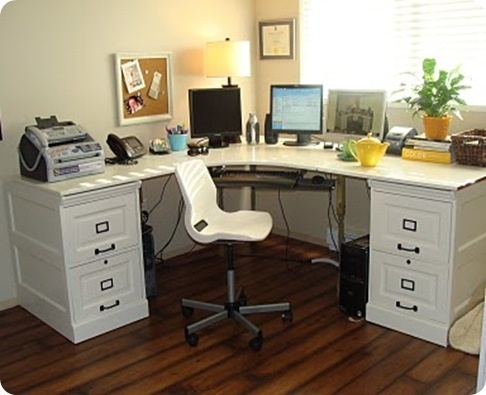 DIY Corner Desk Guest room Office