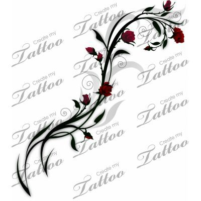 Vine of Roses tattoo | http://best-wonderful-tatoos.blogspot.com
