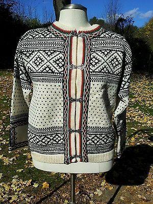 Dale of Norway Women's Sweater Pewter Clasp Sweater Jacket Size 40 | eBay