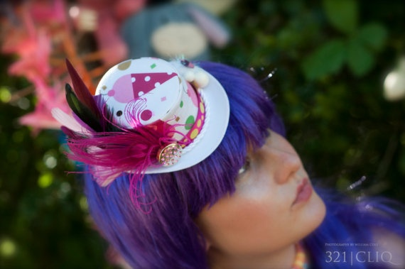 Ice Cream Mini Top hat  Kawaii Sweets Tea party  by HikariDesign, $45.00