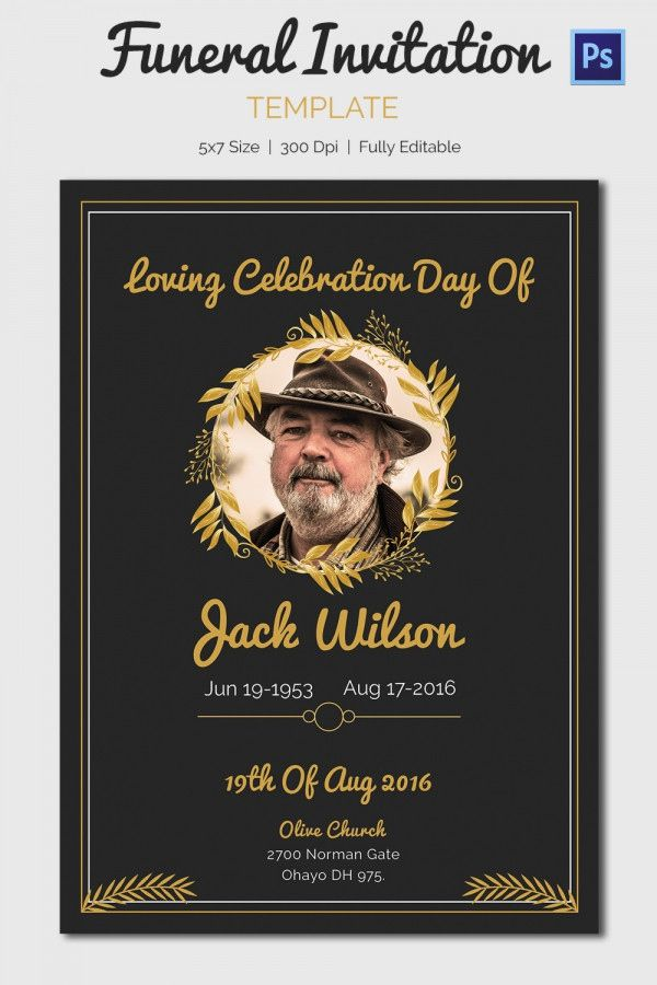 16 elegant funeral card invitation images in 2020