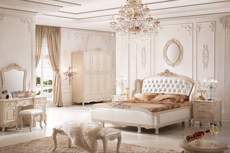 60+ идей интерьера белой спальни: элегантная роскошь (фото) http://happymodern.ru/belaya-spalnja/ Фото классической спальни в белых тонах - величественно и красиво