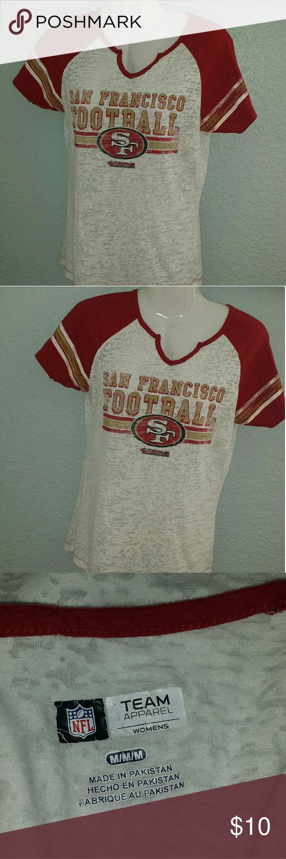 NFL  ladies Football  T Shirt San Francisco NFL football shirt. Womens  M. Gently used condition. Nfl team apparel Tops Tees - Short Sleeve