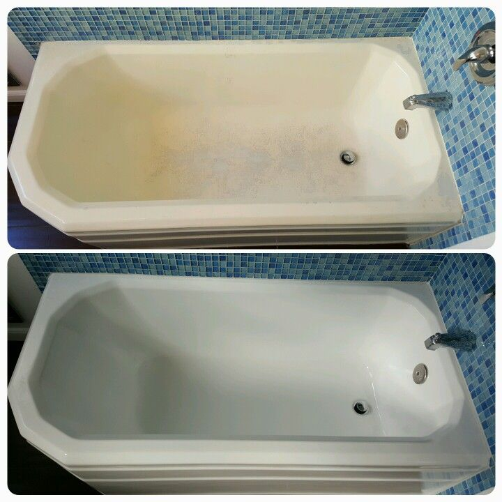 That Cheap Bathtub Paint Turned Yellow And Peeled Off. Bathtub Reglazing  Companies Know How To Prep Porcelain And Have Access To Coatings That Gives  Your ...