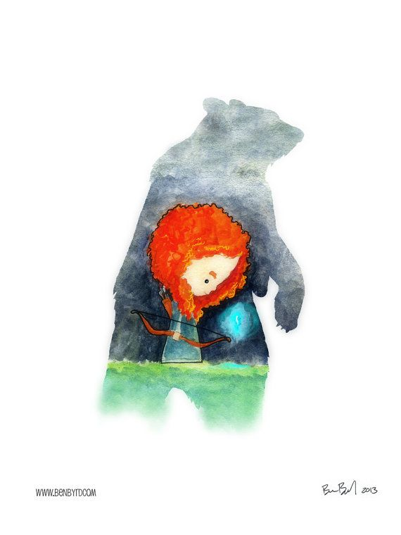 Merida the Brave Watercolor by BenByrdArtwork on Etsy