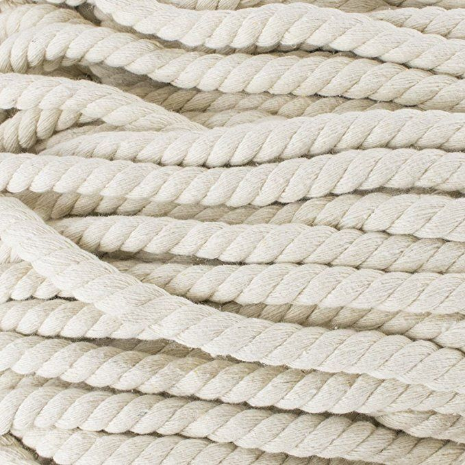 Premium Super Soft Colored Twisted Cotton Rope Available In A Variety Of Diameters Rope By The Foot In 10 Ft 25 Ft 50 Ft Cotton Rope Rope Crafts Cotton