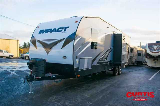 2016 New Keystone Impact 303 Toy Hauler in Oregon OR.Recreational Vehicle, rv, 2016 Keystone Impact 303, Accessories: INTENSE INTERIOR,KNOCKOUT PACKAGE,EXTREME EXTERIOR,LIGHTED AWNING(S),15.0 BTU AIR COND.- DUCTED,50 AMP SERVICE/WIRE & BRACE FOR 2ND AC,CORRECT TRACK,PULL DOWN SCREEN IN CARGO AREA,8 CUBIC FOOT LARGE REFRIGERATOR,ELECTRIC BEDS W/DUAL OPPOSING COUCHES,ONAN 5.5 GENERATOR,WINTERIZATION,STATE SEAL - OR,RVIA SEAL -GO CSAMPING,DEST CHARGES,,