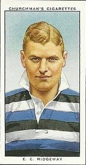 1935 by Churchman, #48 From the set, Rugby Internationals (E.C. Ridgeway, Wanderers)