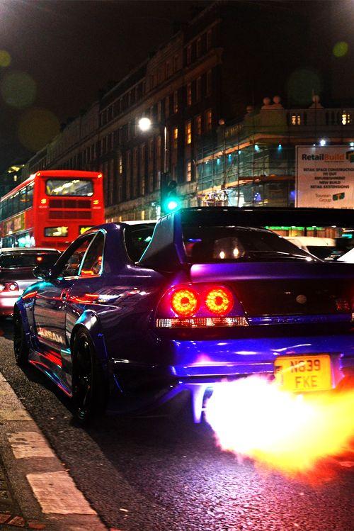 Visit The MACHINE Shop Café... ❤ Best of Nissan @ MACHINE ❤ (Fire Spitter Nissan GT-R Coupé)