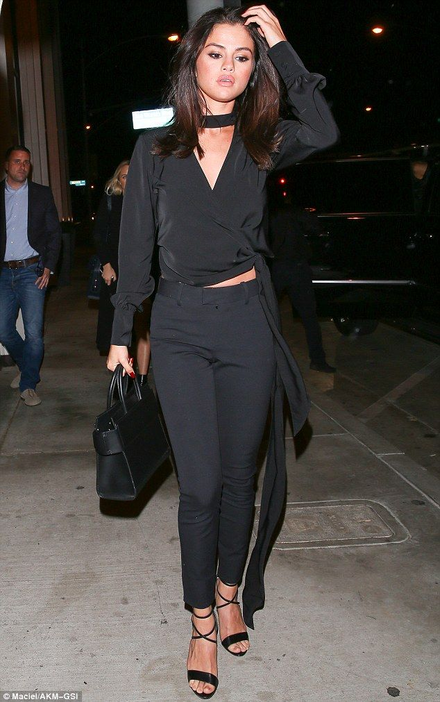 Happy and healthy: Selena Gomez looked stunning as she headed to dinner in West Hollywood on Saturday